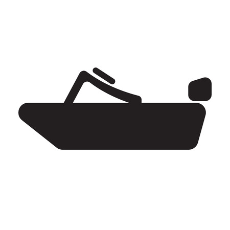 speed: speed boat flat icon