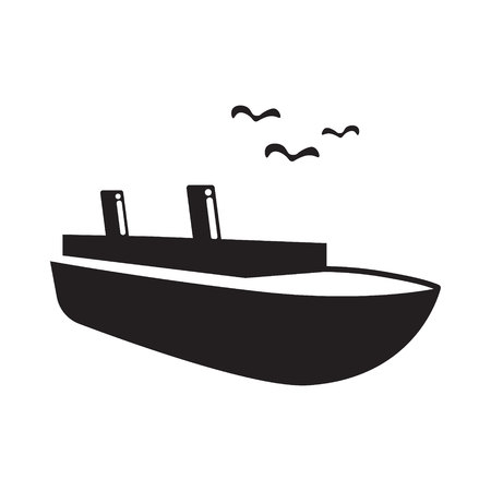 ocean liner: ocean liner flat icon