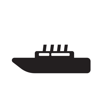 marine industry: boat flat icon Illustration