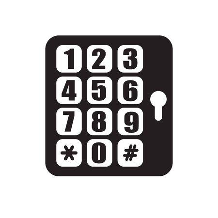 contrase�a: contrase�a icono de llave plana Vectores