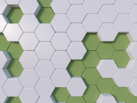hive: green  abstract 3d hexagon background bee hive