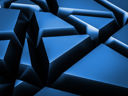 blue steel: Abstract random cut shape metallic background blue color