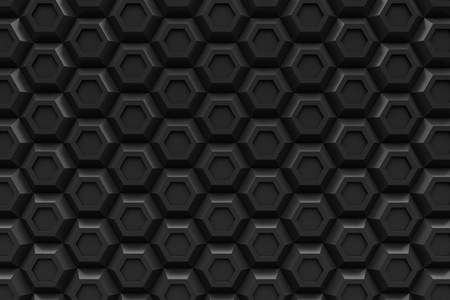 black hexagon Honeyomb modern technology black abstract 3d  background