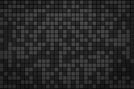 shiny black: pixel black gray grid background 3d render with copy space
