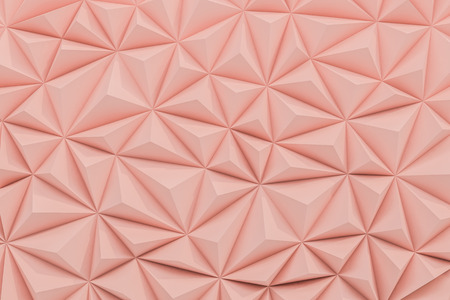 Abstract dusty rose low poly background with copy space 3d render 版權商用圖片