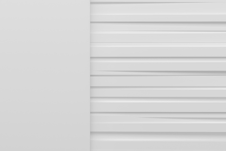 frame less: white line horizontal sider background 3d render with copy spcae Stock Photo