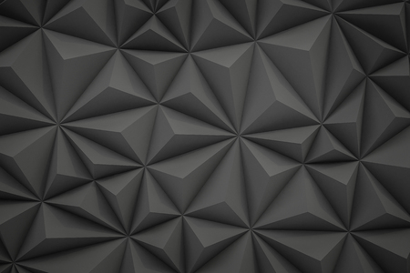 Abstract gray low poly background with copy space 3d render