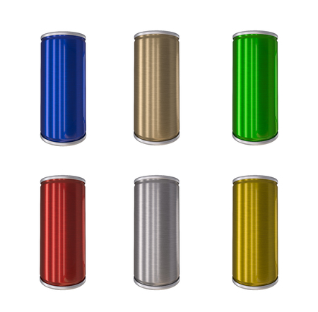 drink can: Aluminum Drink Can isolated 3d rendering