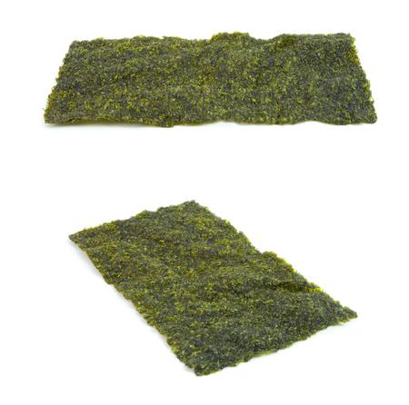 nori: Nori Seaweed isolated on white