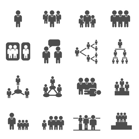 stockholder: group business man concept icon vector Illustration