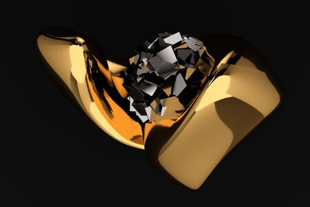 abstract black luxury background 3d render Stock Photo