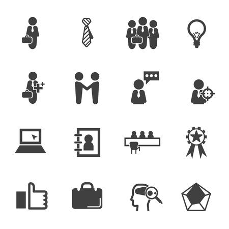 ability to speak: Businessman icon set vector Illustration