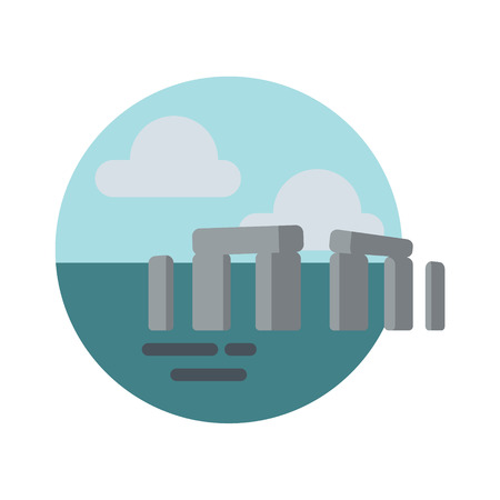 Stonehenge logo icon badge vector Illustration