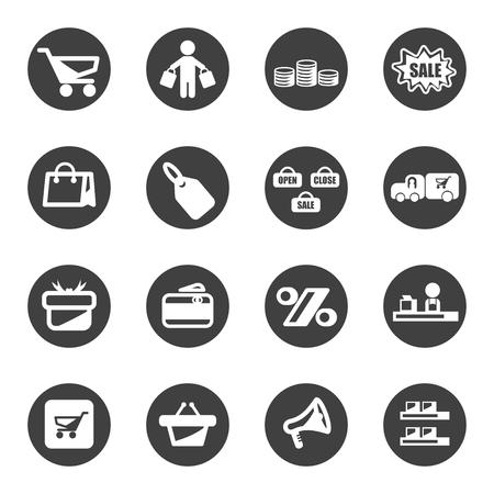 loot: shopping icon set vector