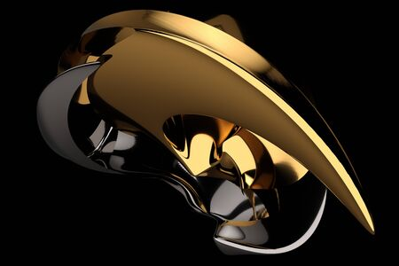 abstract black luxury object background 3d render