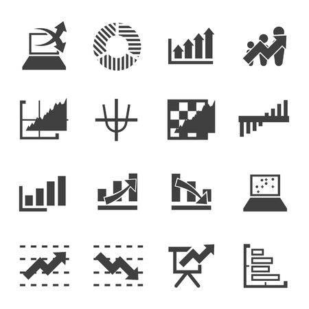 exponential: graph icon vector for business commercial market stock