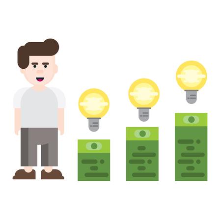 ceo: business man idea startup vector Illustration