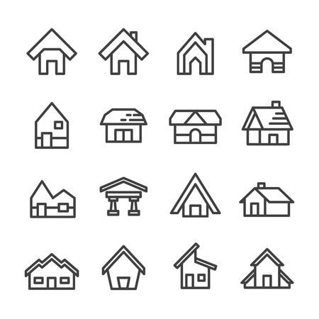 house home line icon set