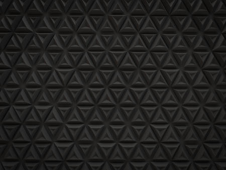abstract 3d black small triangle pattern technology background render