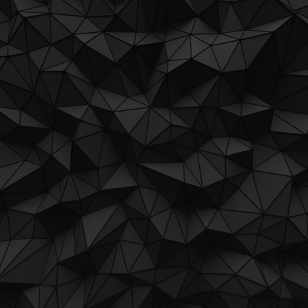 abstract black low poly background structure pattern 3d render. blank empty backdrop with copy space technology modern future business style concept. 免版税图像 - 100436111