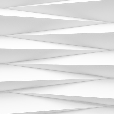 white abstract zig zag background 3d render Imagens - 100435893
