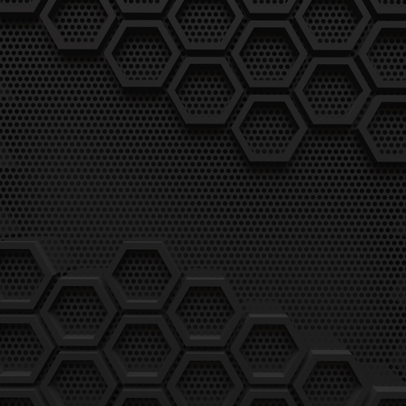 black dark hexagon background modern future concept pattern beehive wire mesh 3d render. 免版税图像 - 100436011