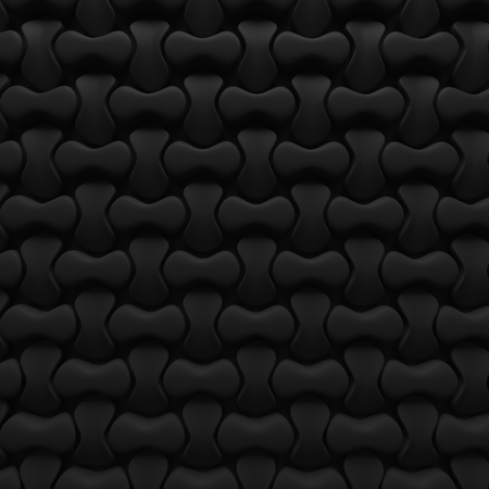 black abstract puzzle background pattern 3d render