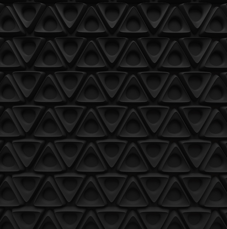 black triangle spline shape with hole abstract background pattern 3d render