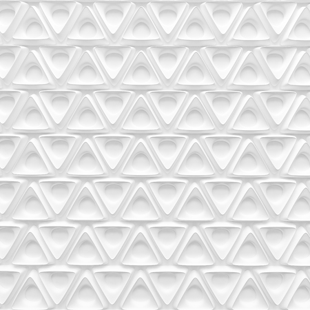 white triangle spline shape with hole abstract background pattern 3d render Imagens