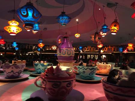Japan Disneyland rotating coffee cup Editorial