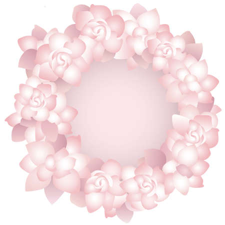 greeting card background: pink rose frame