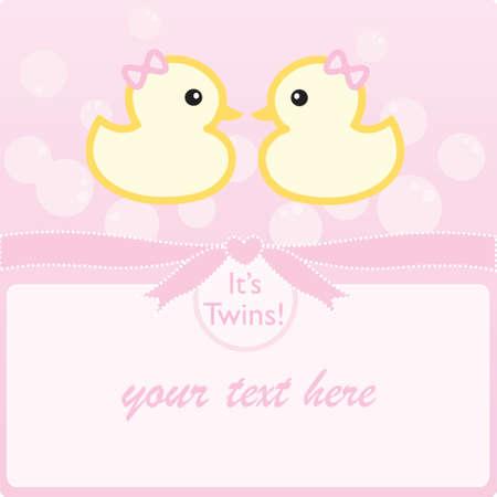ni�as gemelas: Se trata de dos chicas! Vectores