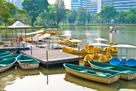 Water-cycle boat in park Stock Photo - 12534816