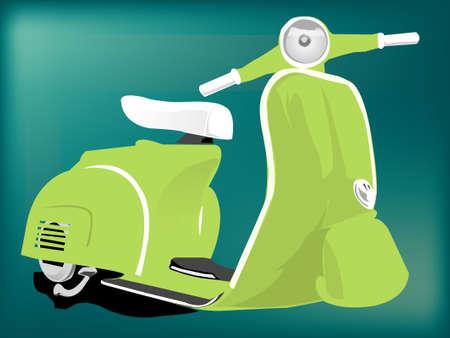 Vespa Scooter Illustration Stock Photo
