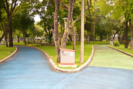 Footpaths in the lumpini park at the Bangkok in thailand Stock Photo - 13785312