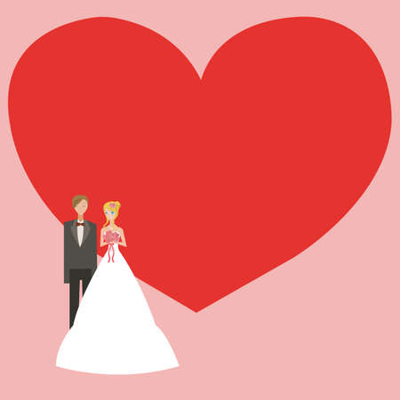 Wedding background with space for text  Vector