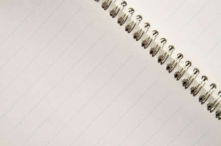 Closeup of a composition book with blank pages,can be used as background
