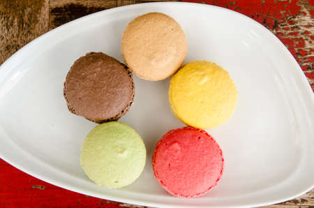macaroons on the dish  photo