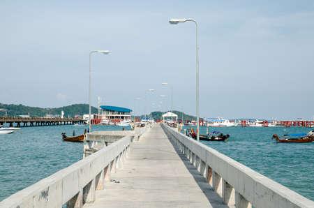 Bridge Port over the water  photo