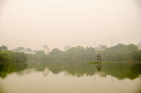 HO GUOM in HaNoi, Vietnam Small tower located between the lakes in Hanoi capital of Vietnam