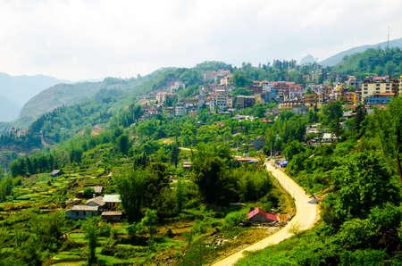 Sapa Town at Lao Cai Vietnam photo