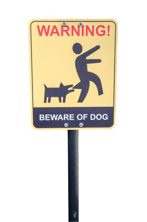 Beware of the mad dog - warning sign  photo