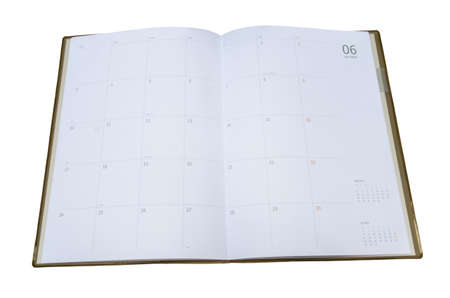 tabbed binder: Notebook design with calendar Stock Photo