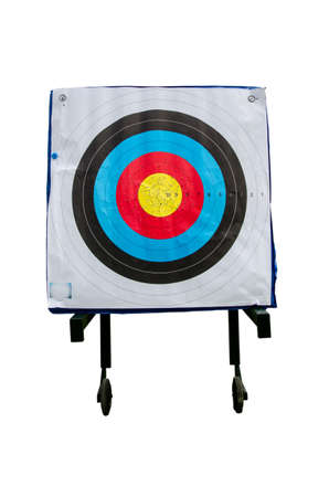 inspiration to successful with archery target Stock Photo