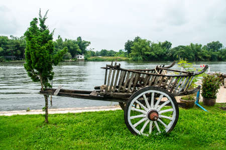 Wooden cart photo