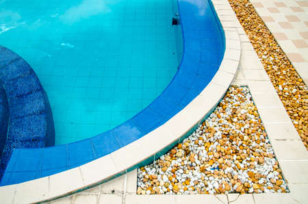 Corner of an outdoor swimming pool