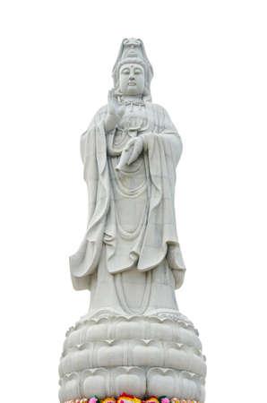 Kuan Yin image of buddha Chinese art isolated over white