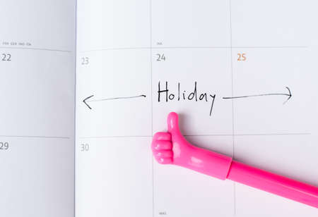 concede: Holiday day marked on the calendar with concede a symbol