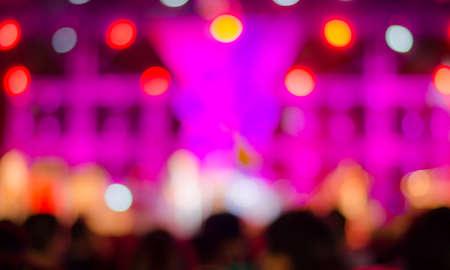 Music concert background bokeh blur Standard-Bild