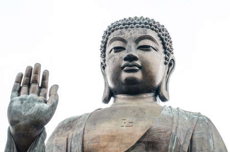 earthly: bronze statue of the Tian Tan Buddha ( Big Buddha ), Po Lin Monastery, Lantau Island, Hong Kong